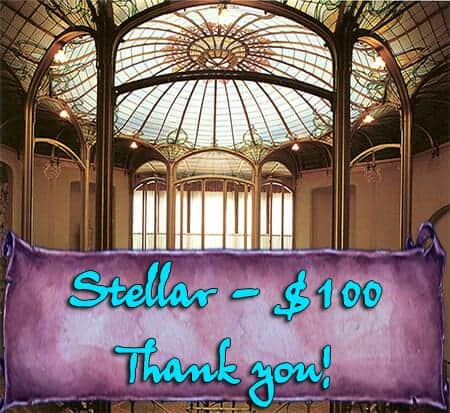 STELLAR - Pledge $100 or more per month - Give and you shall Receive