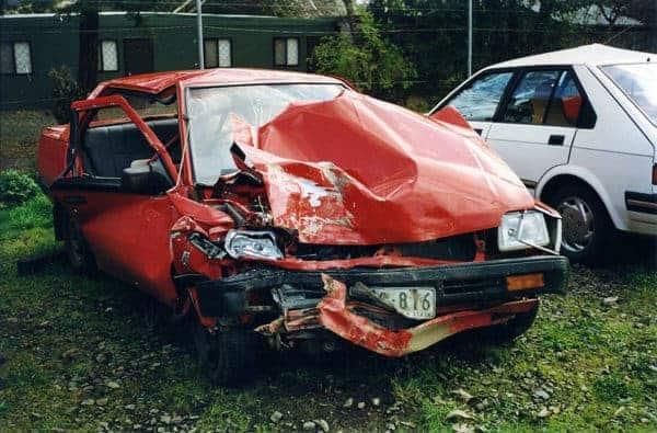 Anna's car wreck